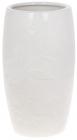 """Ваза """"Біла Ромашка"""" 12.5х12.5х21.8см керамічна біла"""