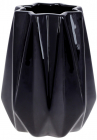"""Ваза керамічна """"Stone Flower"""" 12.5x12.5x16см, чорний"""