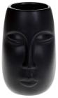 """Ваза керамическая """"Illusion Лицо"""" 11.5x11x17см, матовый черный"""