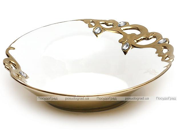 "Блюдо ""Жар-птица"" Gold Luxury-02 Ø33см с декоративными стразами"