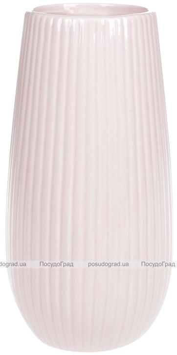 Ваза керамічна Jeffersonia Lanes 25см, рожева