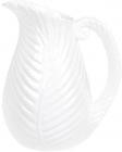 """Ваза керамічна """"Лист папороті"""" 27.5см, біла"""