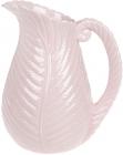 """Ваза керамічна """"Лист папороті"""" 27.5см, рожева"""