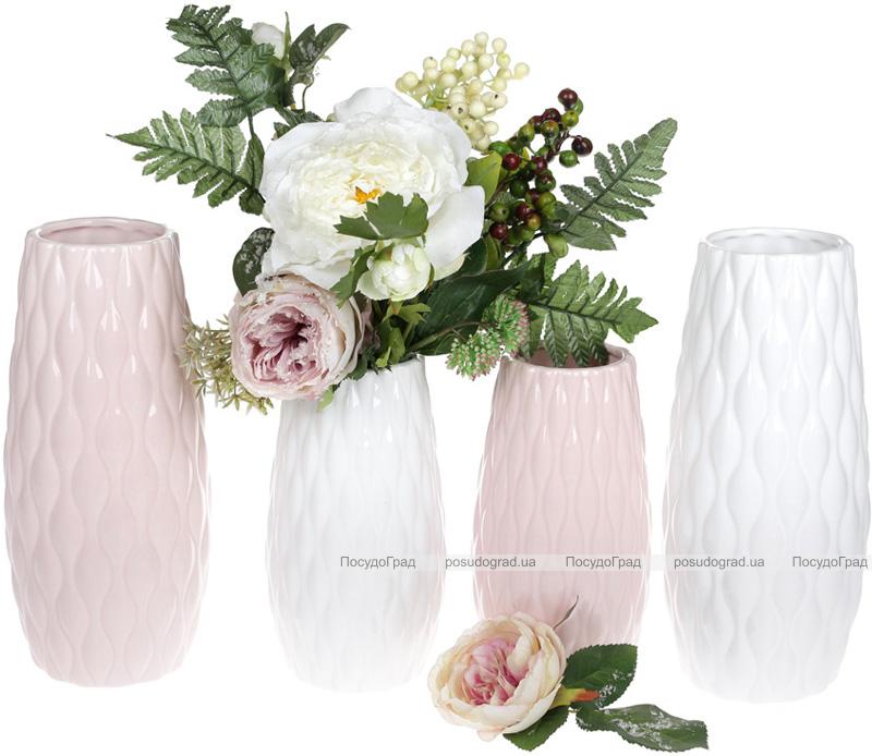 Ваза керамічна Jeffersonia Bubble 19.8см, рожева