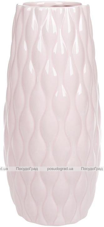 Ваза керамическая Jeffersonia Bubble 26.5см, розовая