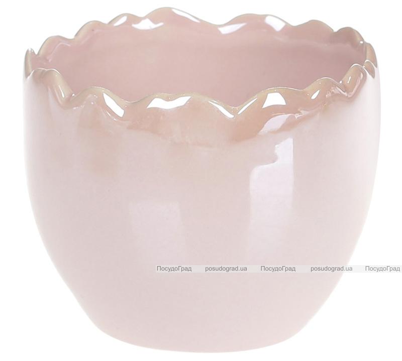 """Декоративне кашпо """"Erwig"""" 9.2х9.2х7.5см, рожеве"""