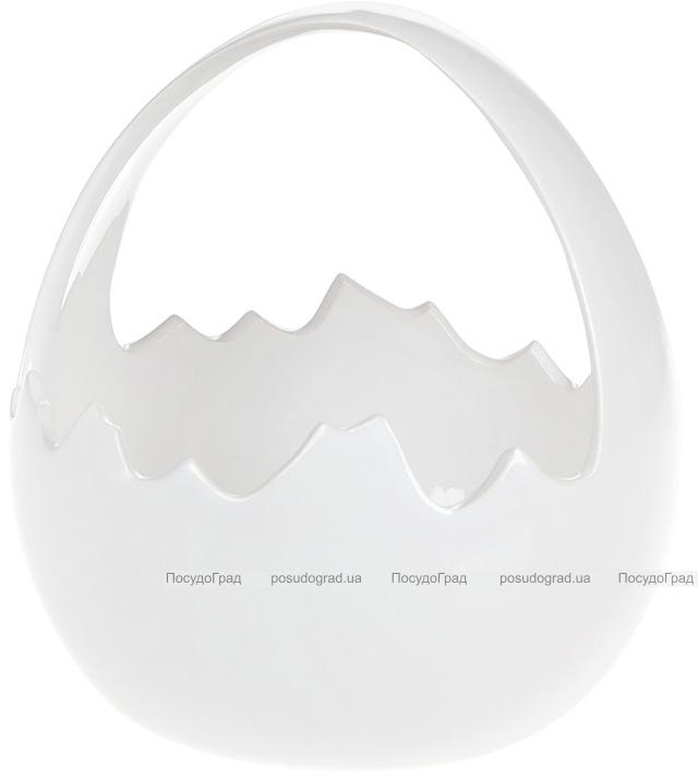 """Декоративная конфетница """"Яйцо"""" 15.7х15.1х16.4см, белая"""