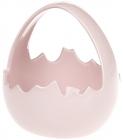 """Декоративная конфетница """"Яйцо"""" 15.7х15.1х16.4см, розовая"""