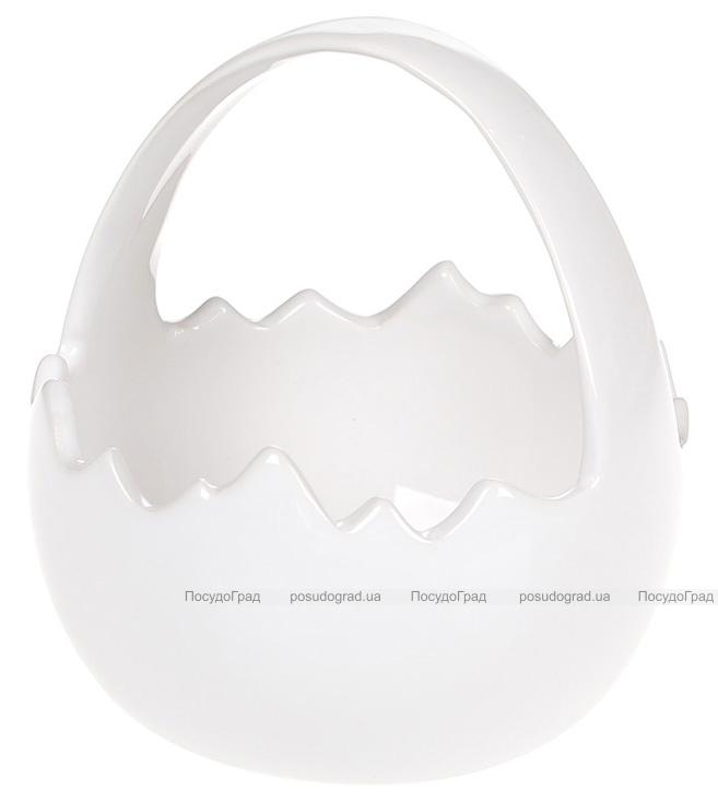"""Декоративна цукерниця """"Яйце"""" 11х11х11.5см, біла"""