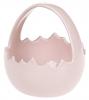 """Декоративная конфетница """"Яйцо"""" 11х11х11.5см, розовая"""
