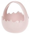 """Декоративна цукерниця """"Яйце"""" 11х11х11.5см, рожева"""
