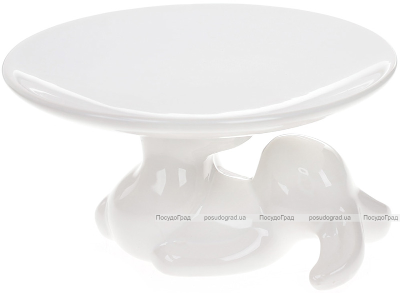 """Блюдо керамическое пасхальное """"Кролик-акробат"""" Ø15.2см"""