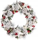 """Новорічний декоративний вінок """"Калина в снігу"""" Ø39см"""