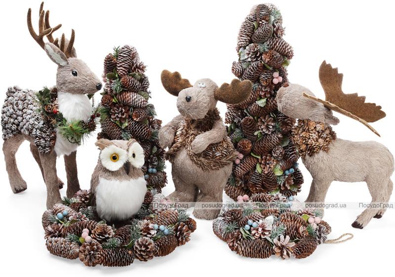 """Декоративная игрушка """"Северный Олень"""" 38см с использованием натуральных материалов"""