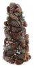 """Декоративная елка """"Шишки и ягоды"""" 38см с натуральными шишками"""