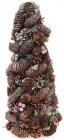 """Декоративна ялинка """"Шишки та ягоди"""" 48см з натуральними шишками"""