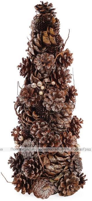 """Декоративная елка """"Шишки золотистые"""" 38см с натуральными шишками"""