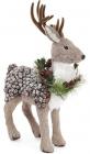 """Декоративна іграшка """"Північний Олень"""" 49см з використанням натуральних матеріалів"""