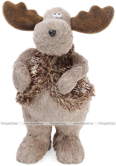 """Декоративная игрушка """"Северный Олень"""" 35см с использованием натуральных материалов"""