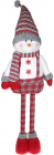 """Мягкая игрушка """"Снеговик в комбинезоне"""" 12х28х48см, белый с красным"""