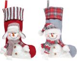 """Носок для подарков """"Снеговик"""" 28х51см"""