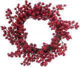 """Новорічний декоративний вінок """"Червоні ягоди"""" Ø50см"""