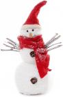 """Новогодняя декоративная фигурка """"Снеговик в красном шарфе"""" 19см"""