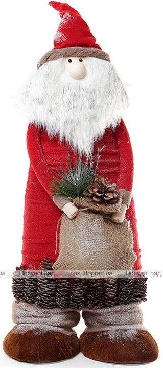"""Новогодняя декоративная фигурка """"Санта Клаус с мешком"""" 65см"""