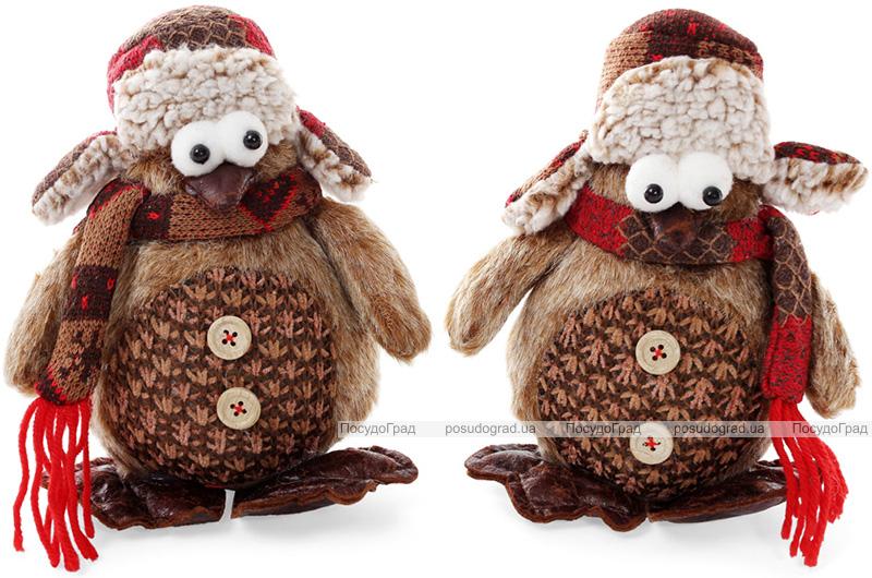 """Новогодняя мягкая игрушка """"Пингвин"""" 16х9х18см"""
