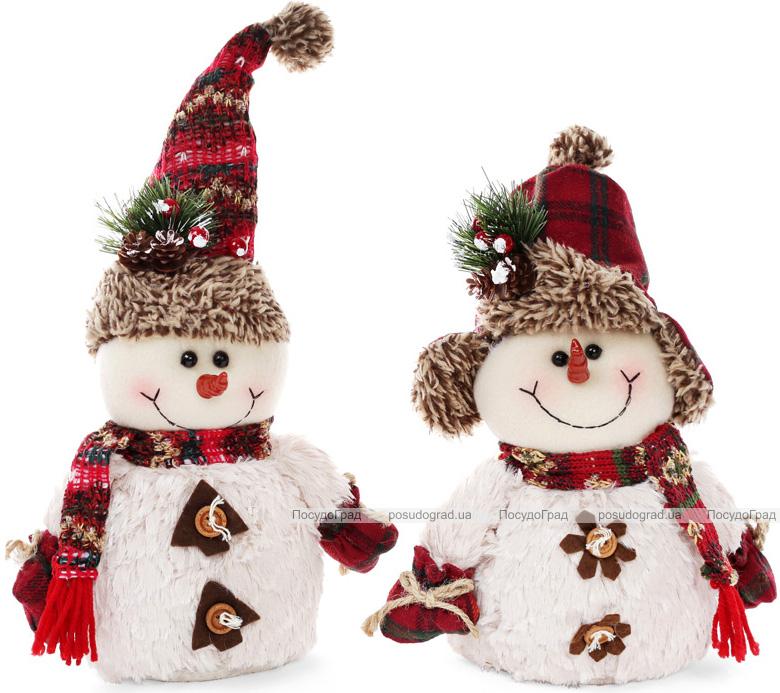 """Новогодняя мягкая игрушка """"Снеговички"""" 18х9х25см"""