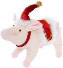 Новогодняя мягкая игрушка Свинка 38х14х26см