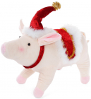 "Новогодняя мягкая игрушка ""Свинка"" 38х14х26см"