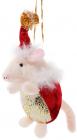 Новогодняя мягкая игрушка Свинка 6х7х15см, подвесная