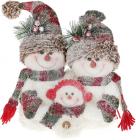 """М'яка іграшка-композиція """"Сім'я сніговиків"""" 36см"""