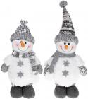 """М'яка іграшка """"Сніговик"""" 38см, білий з сірим, 2 дизайну"""