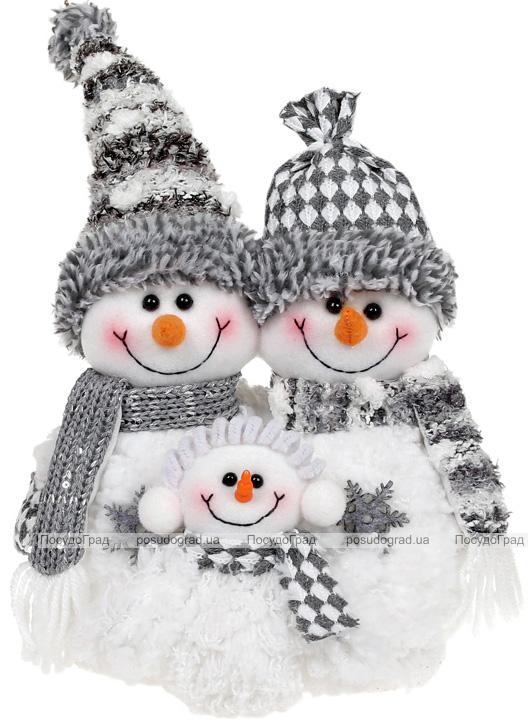 """М'яка іграшка """"Сім'я Сніговиків"""" 32см, білий з сірим"""