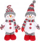 """Мягкая игрушка """"Снеговик"""" 38см, белый, серый, красный, 2 дизайна"""