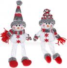"""Мягкая игрушка """"Снеговик"""" 44см, белый, серый, красный, 2 дизайна"""