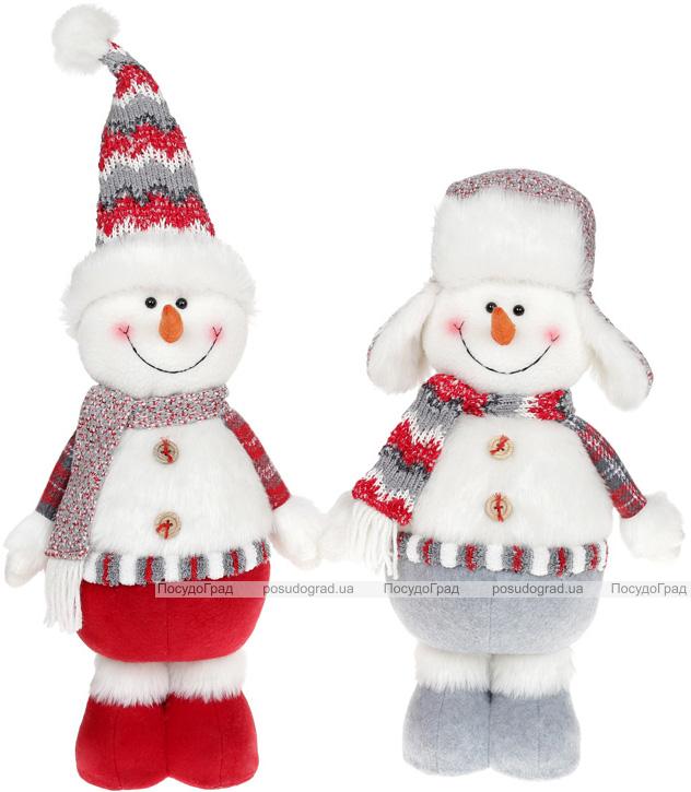 """Мягкая игрушка """"Снеговик"""" 42см, белый, серый, красный, 2 дизайна"""