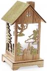 """Новогодний фонарик """"Деревянный домик"""" с LED-подсветкой 15х13.5х26см"""