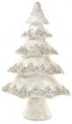 """Декоративна новорічна ялинка """"Снігова красуня"""" 30х12х51см, білий перламутр"""