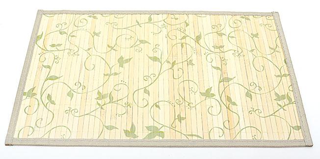 Бамбуковый коврик (салфетка) Bamboo Mat-119, 30х45см, с прошитым краем