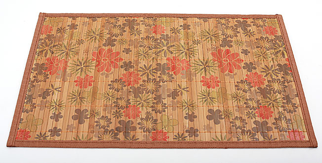 Бамбуковый коврик (салфетка) Bamboo Mat-121, 30х45см, с прошитым краем