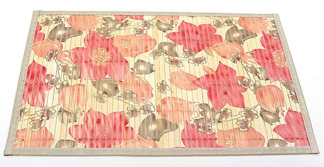 Бамбуковый коврик (салфетка) Bamboo Mat-122, 30х45см, с прошитым краем