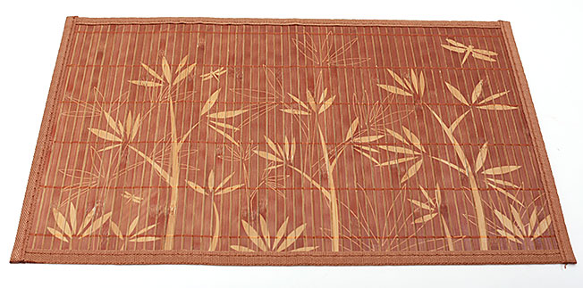 Бамбуковый коврик (салфетка) Bamboo Mat-123, 30х45см, с прошитым краем