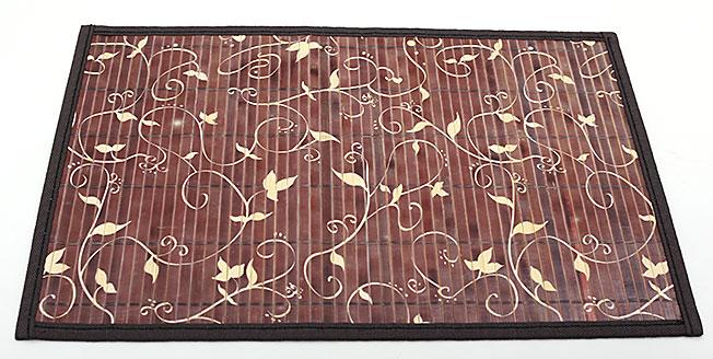 Бамбуковый коврик (салфетка) Bamboo Mat-124, 30х45см, с прошитым краем