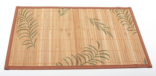 Бамбуковый коврик (салфетка) Bamboo Mat-127, 30х45см, с прошитым краем