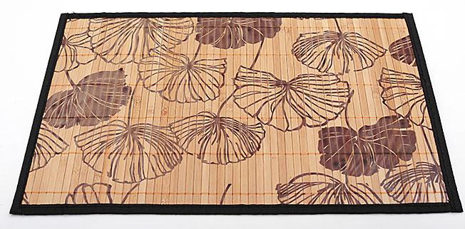 Бамбуковый коврик (салфетка) Bamboo Mat-128, 30х45см, с прошитым краем