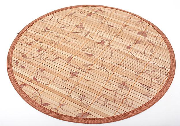 Бамбуковый коврик (салфетка) Bamboo Mat-129, Ø38см, с прошитым краем