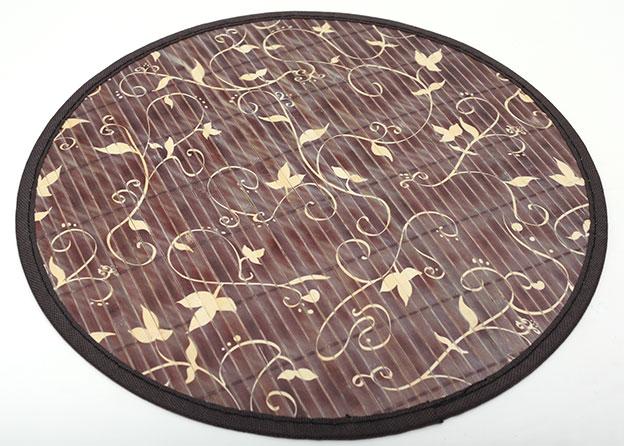 Бамбуковый коврик (салфетка) Bamboo Mat-130, Ø38см, с прошитым краем